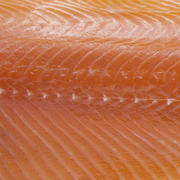 Natural smoked salmon fillet