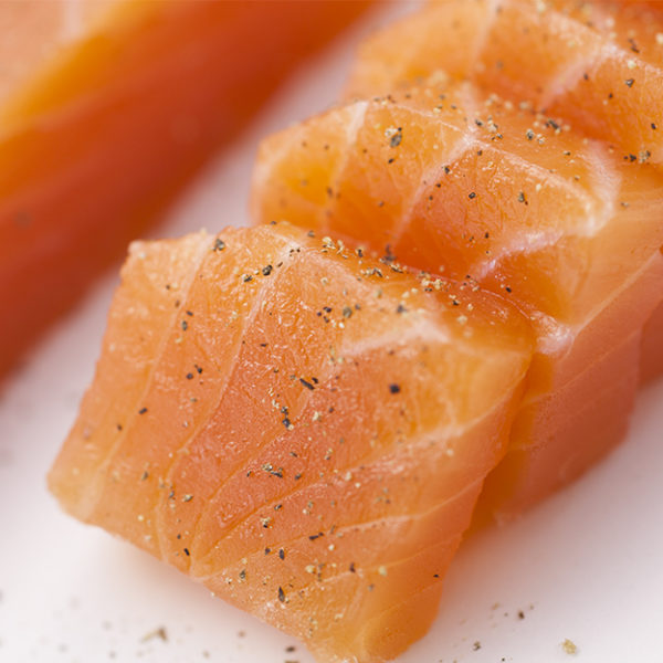 Salmon loin with malt whisky
