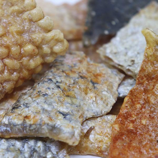 Chips de piel de salmón
