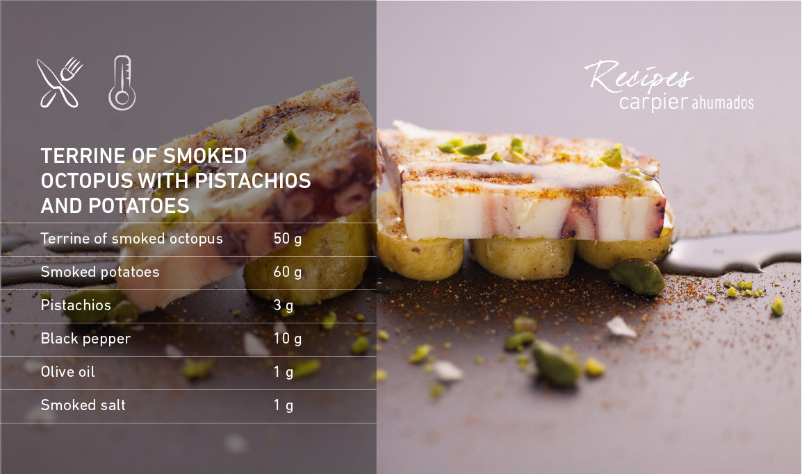 Terrine of smoked octopus with pistachios and potatoes