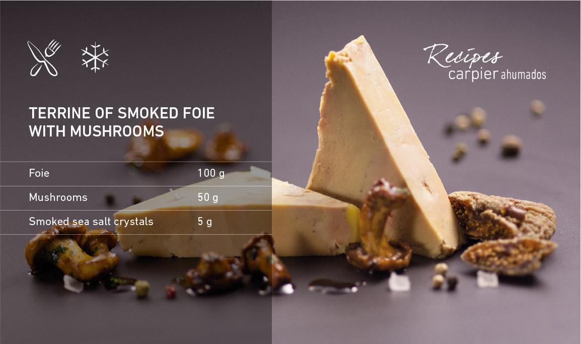 Terrine of smoked foie with mushrooms