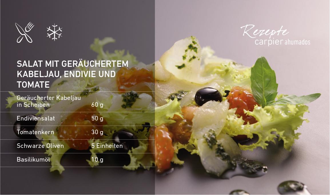 Salat mit geräuchertem Kabeljau