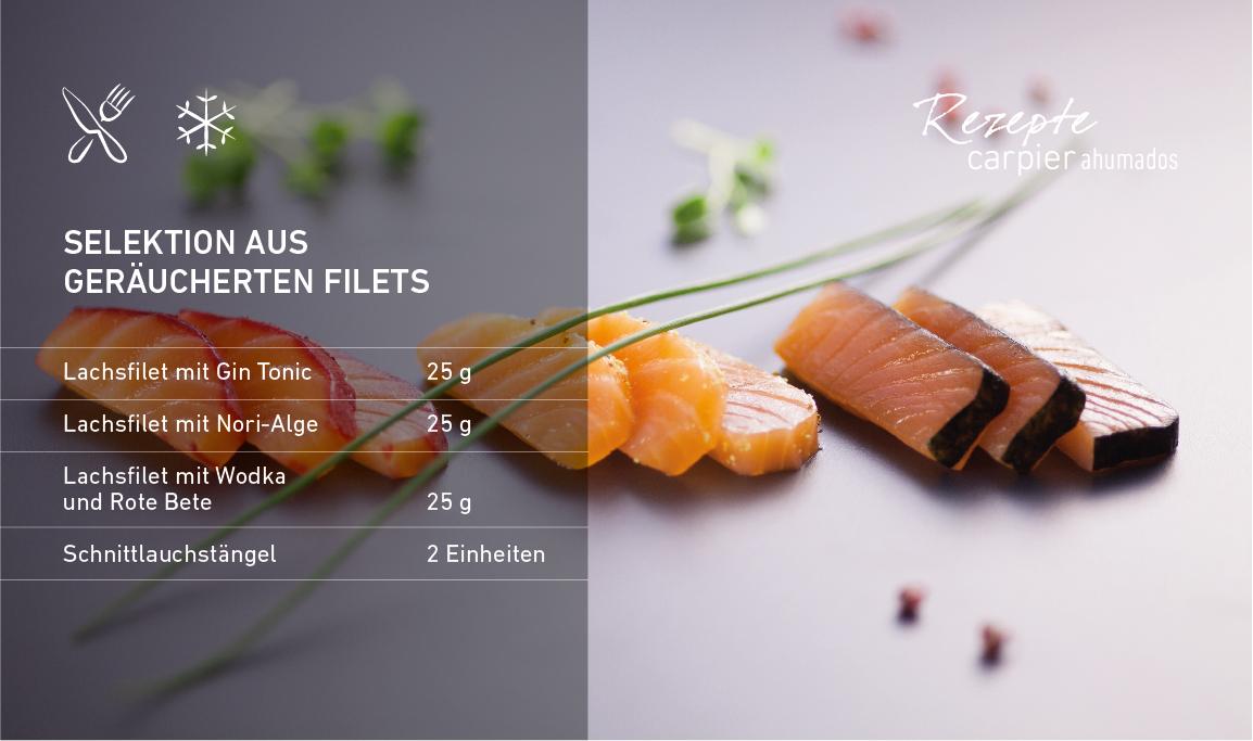 Selektion aus geräucherten Filets