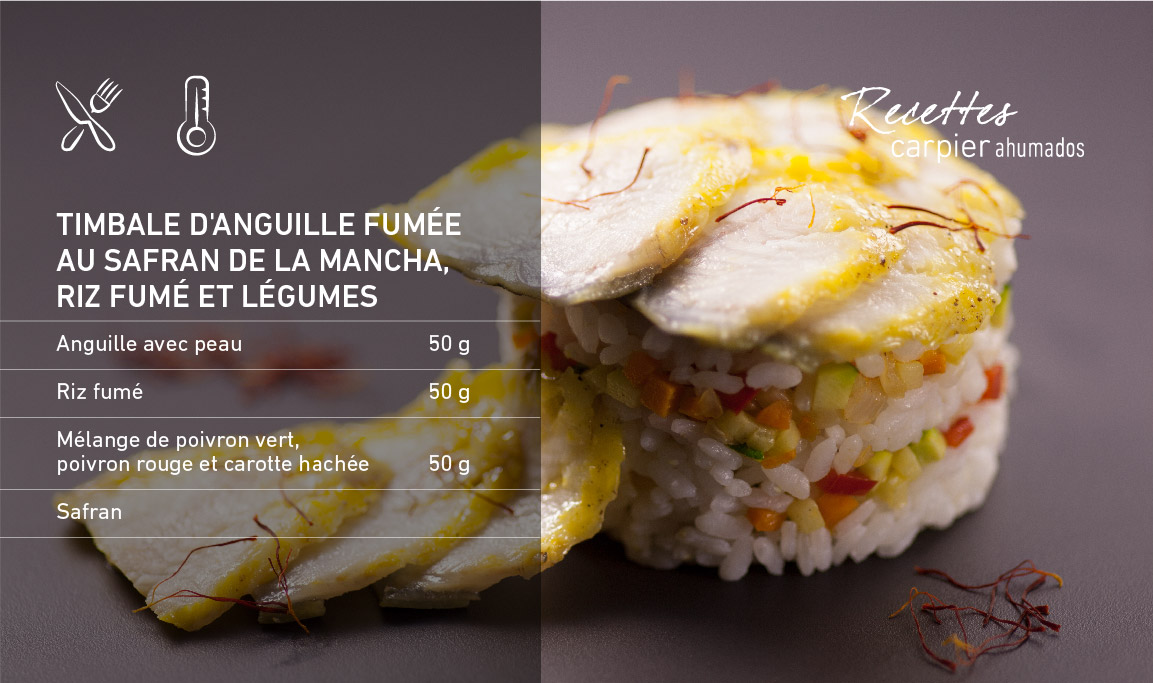 Timbale d'anguille fumée
