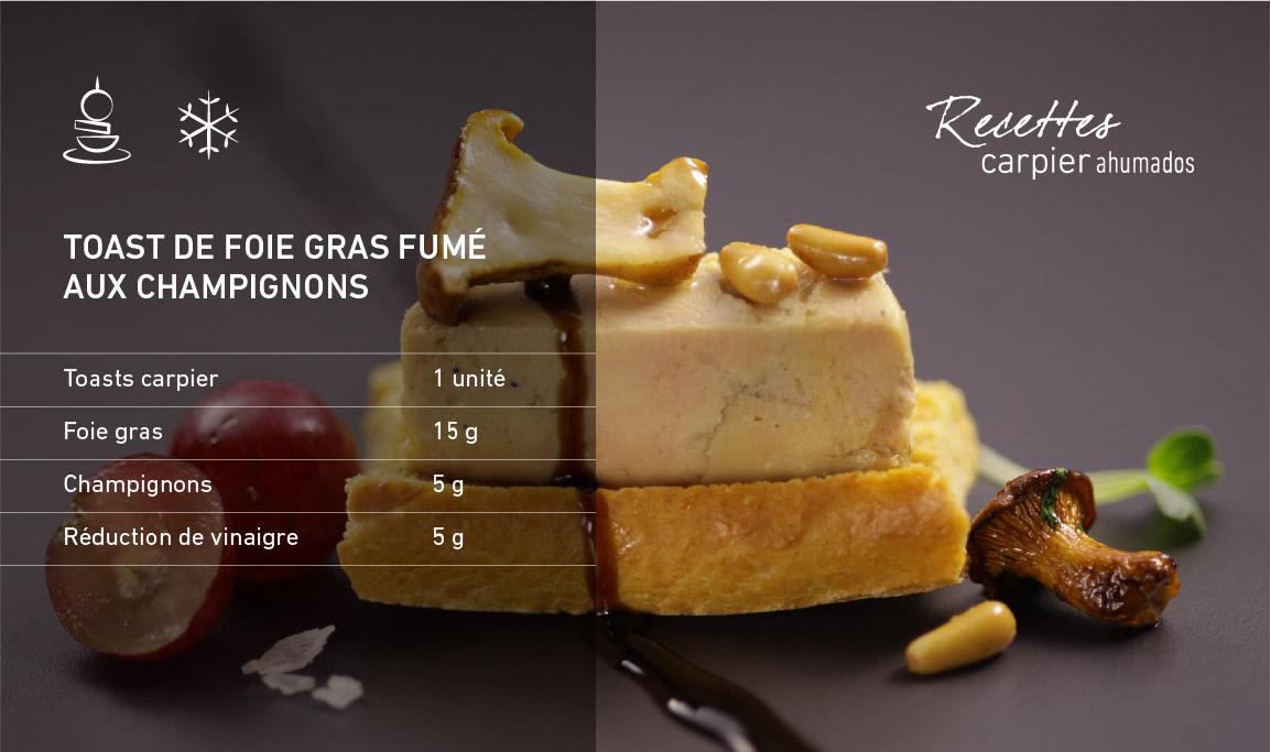 Toast de foie gras fumé